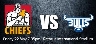 Chiefs vs Blues in Rotorua this May
